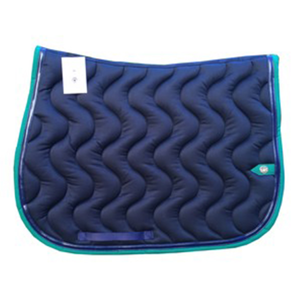 SC_0022_silver-crown_equestrian_saddle-pad_vague_wavet_bridle_tapis-de-selle_bridle_navy_marine_green_vert