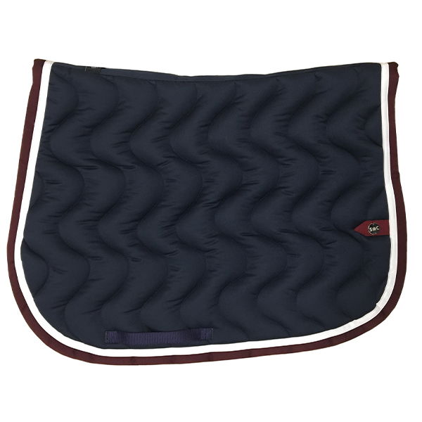 SC_0027_silver-crown_equestrian_saddle-pad_vague_wave_bridle_tapis-de-selle_bridle_navy_marine_garnet_bordeaux