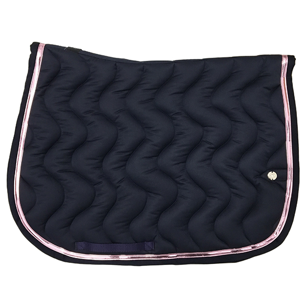 SC_0035_silver-crown_equestrian_saddle-pad_slim_bridle_tapis-de-selle_bridle_marine_navy_or-rose_gold-pink