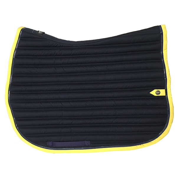 SC_0036_silver-crown_equestrian_saddle-pad_slim_bridle_tapis-de-selle_bridle_marine_navy_jaune_yellow-1