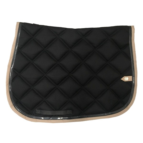 silver-crown_equestrian_saddle-pad_double-carre_double-square_bridle_tapis-de-selle_bridle_black_noir_tan