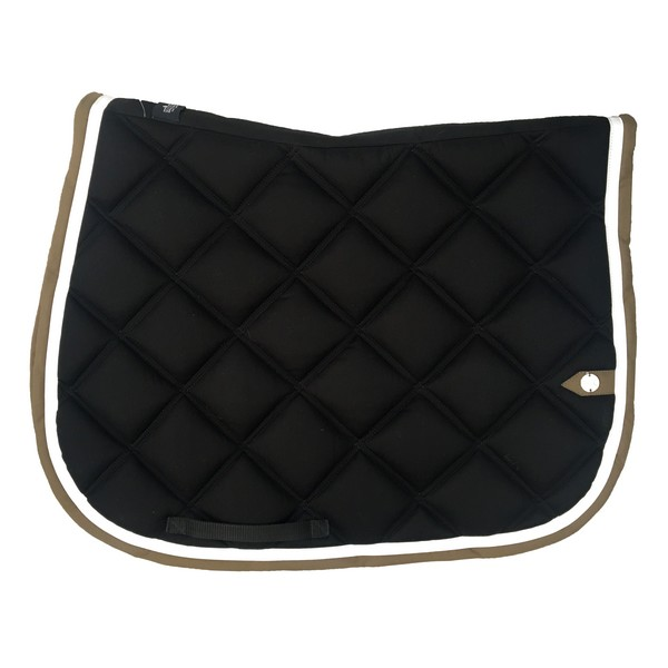 silver-crown_equestrian_saddle-pad_tapis-de-selle_double-carre_double-square_noir_black_white_blanc_kaki_green-khaki