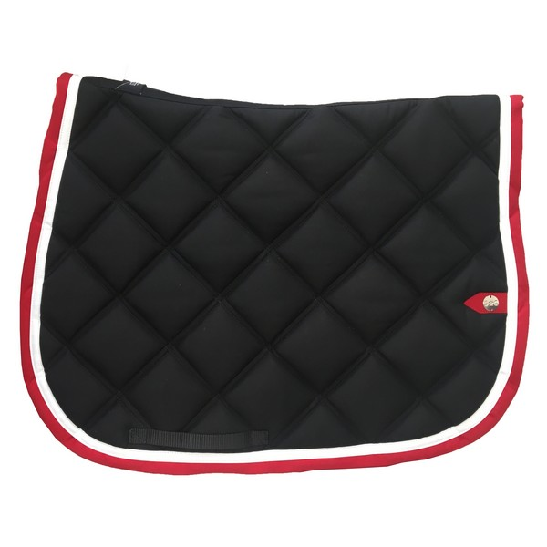 silver-crown_equestrian_saddle-pad_tapis-de-selle_double-carre_double-square_noir_blanc_rouge_black_white_red_jumping