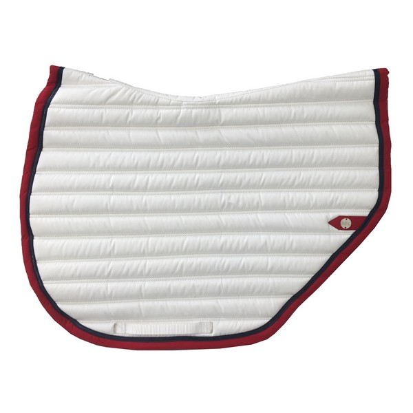 silver-crown_equestrian_saddle-pad_tapis-de-selle_slim-cut_jumping_blanc_white_rouge_red_marine_navy