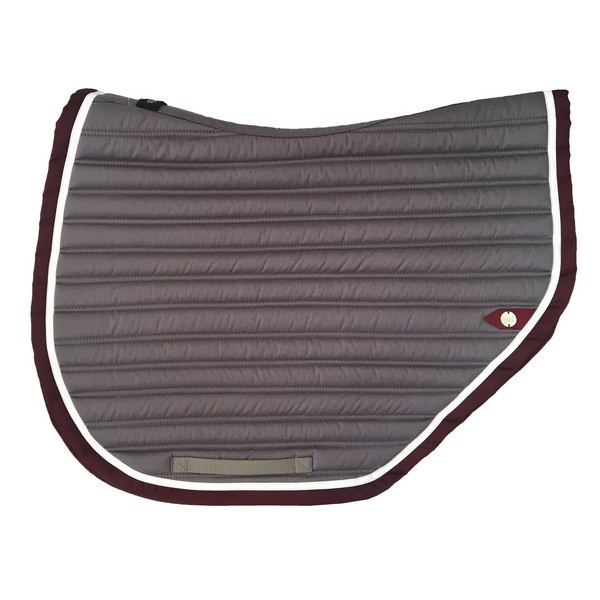 silver-crown_equestrian_saddle-pad_tapis-de-selle_slim-cut_jumping_grey_gris_blanc_white_grenat_garnet_burgundi_bordeaux