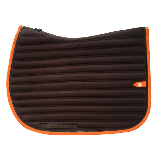 silver-crown_equestrian_saddle-pad_tapis-de-selle_slim_chocolat_orange_dark-brown_chocolate_jumping