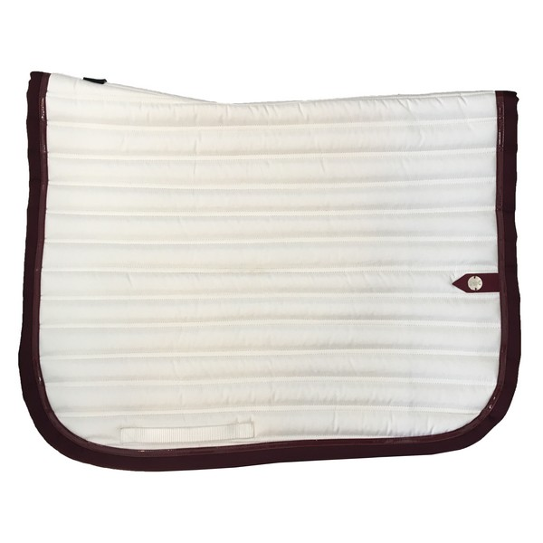silver-crown_equestrian_saddle-pad_tapis-de-selle_slim_dressage_blanc_white_garnet_grenat_bordeaux_burgundi