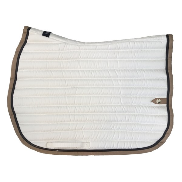 silver-crown_equestrian_saddle-pad_tapis-de-selle_slim_jumping_blanc_white_choco_dark-brown_tan