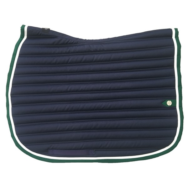 silver-crown_equestrian_saddle-pad_tapis-de-selle_slim_marine_blanc_vert_navy_white_green_jumping