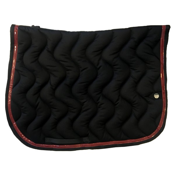 silver-crown_equestrian_saddle-pad_tapis-de-selle_vague_wave_noir_grenat_bordeaux_black_garnet_burgundi_jumping