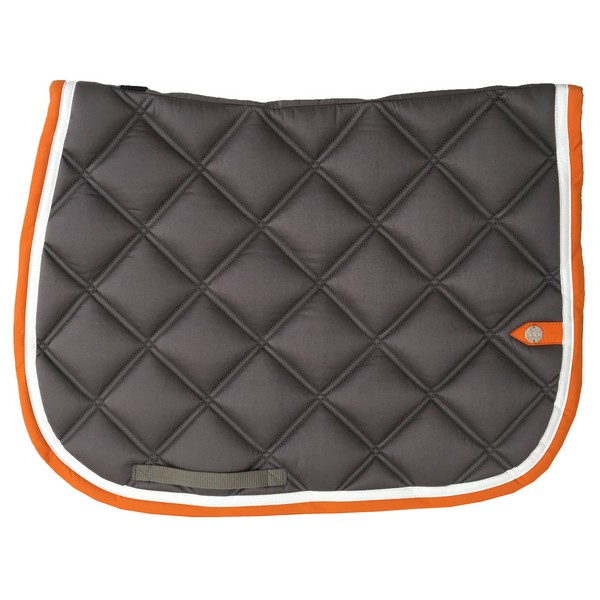 silver-crown_equestrian_saddle-pad_double-carre_double-square_bridle_tapis-de-selle_jumping_bridle_grey_gris_white_blanc_orange