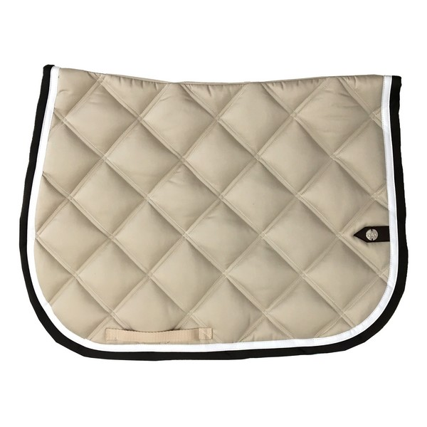 silver-crown_equestrian_saddle-pad_double-carre_double-square_bridle_tapis-de-selle_jumping_bridle_ivoire_ivory_blanc_white_chocolat_dark-brown_choco