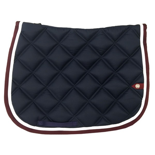 silver-crown_equestrian_saddle-pad_double-carre_double-square_bridle_tapis-de-selle_jumping_bridle_marine_navy_blanc_white_bordeaux_burgundy_grenat_garnet