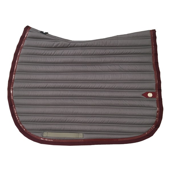 silver-crown_equestrian_saddle-pad_slim_bridle_tapis-de-selle_jumping_bridle_gris_grey_bordeaux_burgundy_grenat_garnet