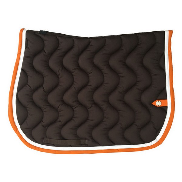 silver-crown_equestrian_saddle-pad_tapis-de-selle_jumping_vague_wave_chocolat_dark-brown_blanc_white_orange