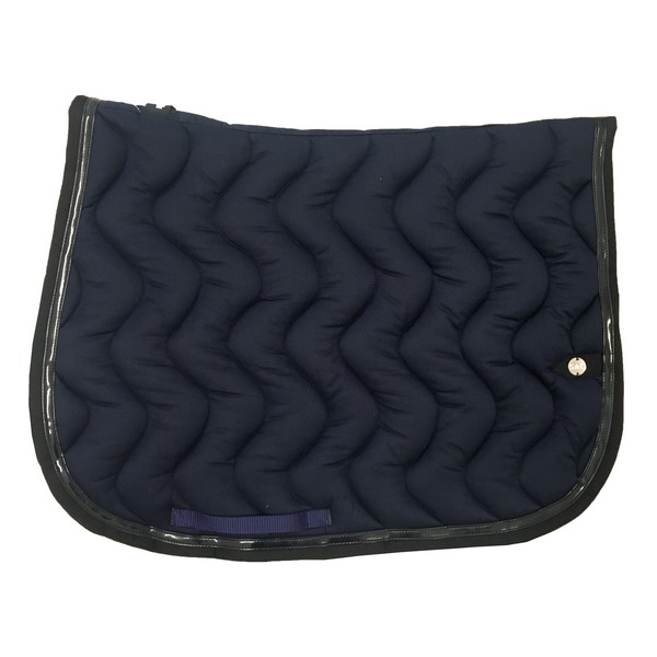 silver-crown_equestrian_saddle-pad_tapis-de-selle_jumping_vague_wave_marine_navy_noir_black