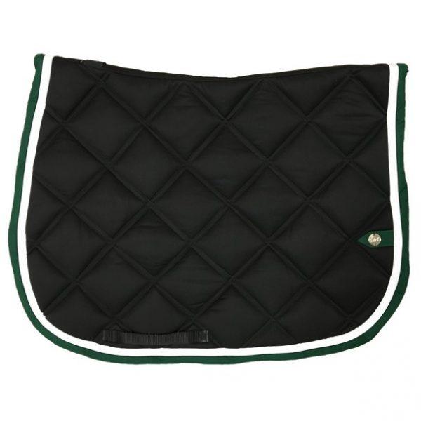 silver-crown_equestrian_jumping_saddle-pad_double-carre_double-square_bridle_tapis-de-selle_bridle_noir_black_blanc_white_vert_green