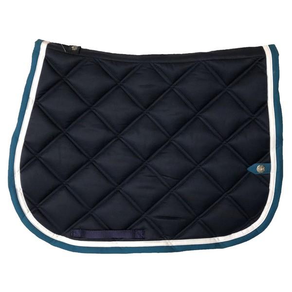 silver-crown_equestrian_saddle-pad_double-carre_double-square_bridle_tapis-de-selle_bridle_marine_dark-blue_blanc_white_bleu-canard_blue-teal