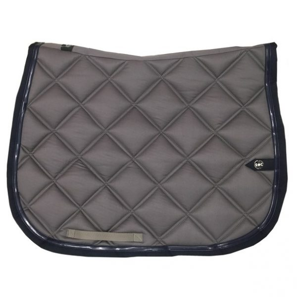 silver-crown_equestrian_saddle-pad_double-carre_double-square_bridle_tapis-de-selle_jumping_bridle_gris_grey_marine_navy_dark-blue