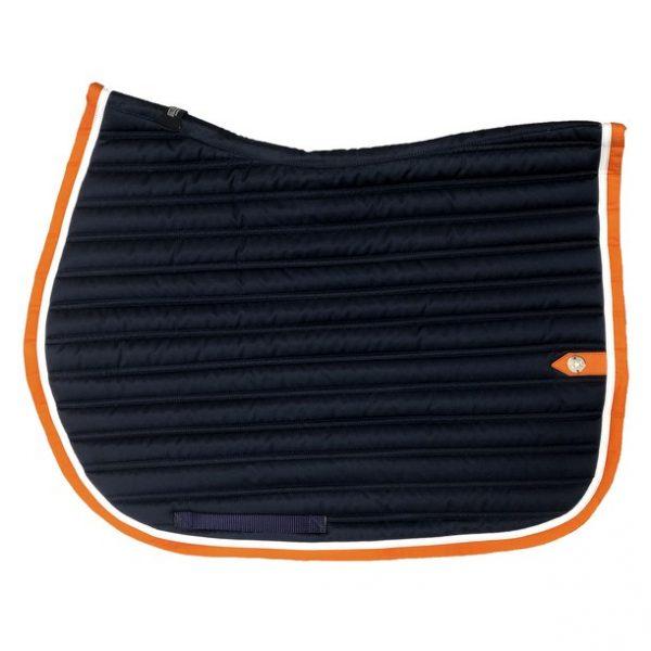 silver-crown_equestrian_saddle-pad_slim_bridle_tapis-de-selle_bridle_marine_navy_dark-blue_blanc_white_orange