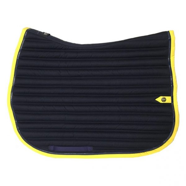 silver-crown_equestrian_saddle-pad_slim_bridle_tapis-de-selle_jumping_bridle_marine_navy_jaune_yellow