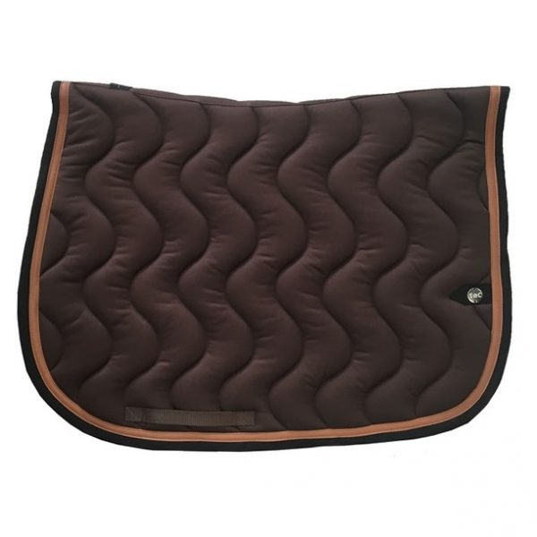 silver-crown_equestrian_saddle-pad_tapis-de-selle_jumping_vague_wave_chocolat_conker_noir_dark-brown_conker_black