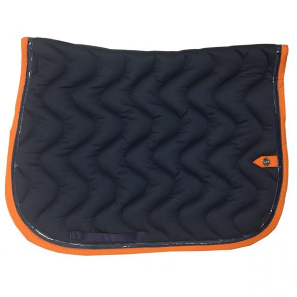 silver-crown_equestrian_saddle-pad_tapis-de-selle_jumping_vague_wave_marine_navy_orange