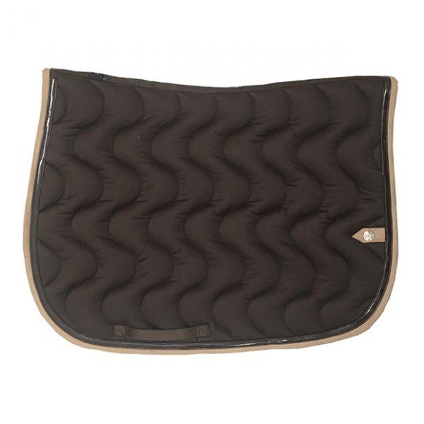 silver-crown_equestrian_saddle-pad_vague_wave_bridle_tapis-de-selle_bridle_chocolat_dark-brown_tan-2