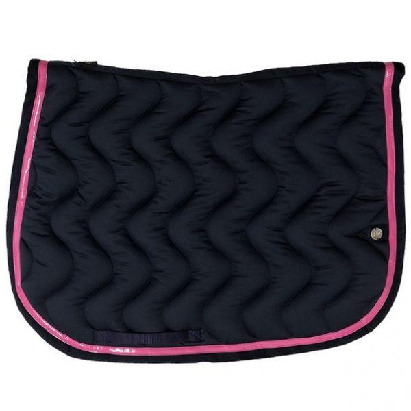 silver-crown_equestrian_saddle-pad_vague_wave_bridle_tapis-de-selle_bridle_marine_dark-blue_framboise_raspberry_rose_pink