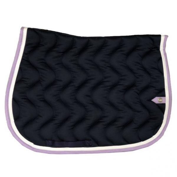 silver-crown_equestrian_saddle-pad_vague_wave_bridle_tapis-de-selle_bridle_marine_navy_dark-blue_blanc_white_lavande_lavender_lilas