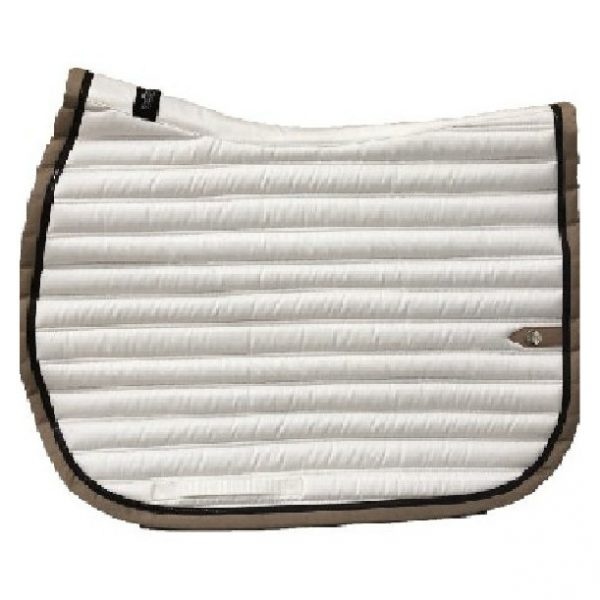 silver-crown_equestrian_jumping_tapis-de-selle_saddle-pad_slim_briderie_bridle_blanc_white_chocolat_chocolate_tan_beige_horsewear