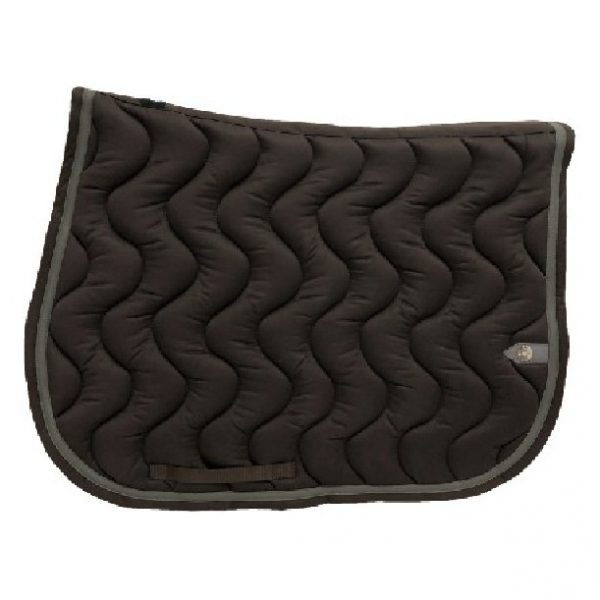 silver-crown_equestrian_jumping_tapis-de-selle_saddle-pad_briderie_bridle_vague_wave_chocolat_chocolate_gris_grey_horsewear