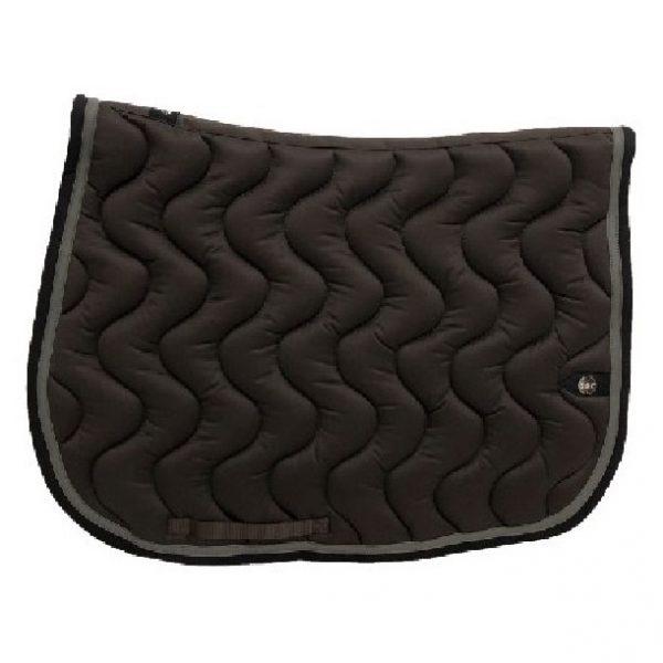 silver-crown_equestrian_jumping_tapis-de-selle_saddle-pad_briderie_bridle_wave_vague_chocolat_chocolate_gris_grey_noir_black_horsewear