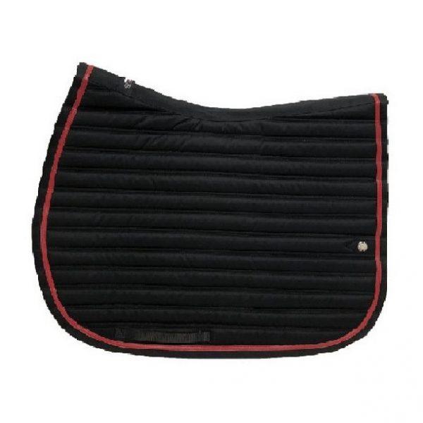 silver-crown_equestrian_jumping_tapis-de-selle_saddle-pad_slim_briderie_bridle_noir_black_rouge_red_horsewear
