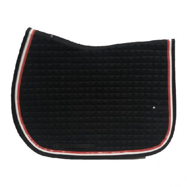 silver-crown_equestrian_briderie_bridle_tapis-de-selle_saddle-pad_slim-us_noir_black_rouge_red_blanc_white